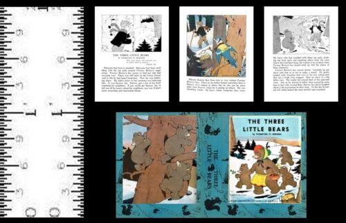 1:12 SCALE MINIATURE BOOK THE THREE LITTLE BEARS THORNTON BURGESS DOLLHOUSE