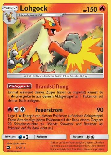 Lohgock Holo DE NM Pokemon 6//70 Majestät der Drachen