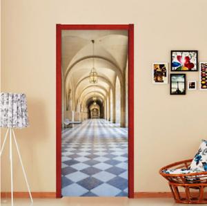 Door Murals Peel And Stick.Details About Self Adhesive Vinyl Wallpaper Gothic Corridor Peel And Stick 3d Door Wrap Murals