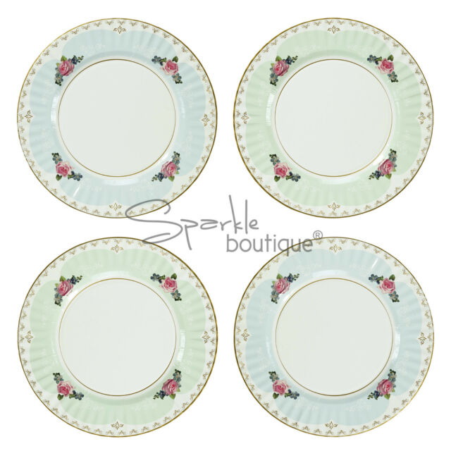 LUXURY FLORAL PAPER PLATES (LARGE/27cm) -Vintage Tea Party- FULL RANGE  sc 1 st  eBay & Talking Tables Truly Scrumptious Paper Dinner Plates Multi-colour ...