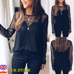 UK-Women-Lace-Hollow-Long-Sleeve-Tops-Ladies-Gothic-Tops-Party-Sexy-Blouse-Shirt