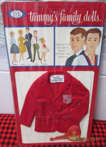 New In Package+Sealed~1963 IDEAL~Tammy~*Dad+Ted*~RED BLAZER JACKET~JAPAN~#9461-5