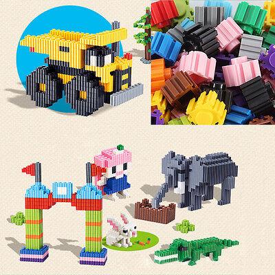 200X Plastic Building Bricks Children Kids Toy Puzzle Educational Gift LE