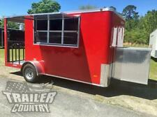New 2021 6 X 14 Enclosed Concession Mobile Kitchen Food Truck Vending Trailer
