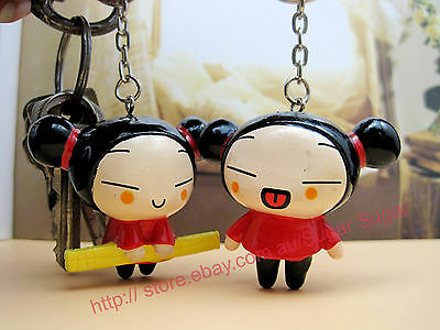 Set of 2 Pucca Keychain / Keyring - NEW