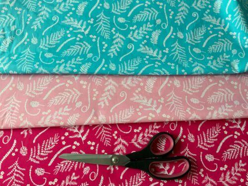 Hawaiian vibrante De Tela De Algodón Tapicería Azul Rosa Quilting fabric Tela del edredón