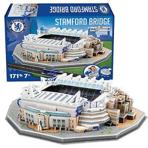Chelsea-Stamford-Bridge-Estadio-De-Futbol-3d-Rompecabezas-171-Piezas