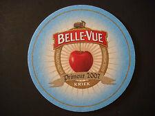 Beer Brewery Coaster ~*~ Brasserie BELLE-VUE Kriek ~ Sint-Pieters-Leeuw, BELGIUM