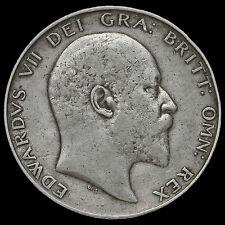 1904 Edward VII Silver Half Crown, Rare, AVF