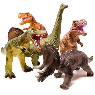 Animals & Dinosaurs Dinosaur Toy Play Set Jumbo Animal Kids Toddler Pretend Figures 5 Piece New Toys & Hobbies