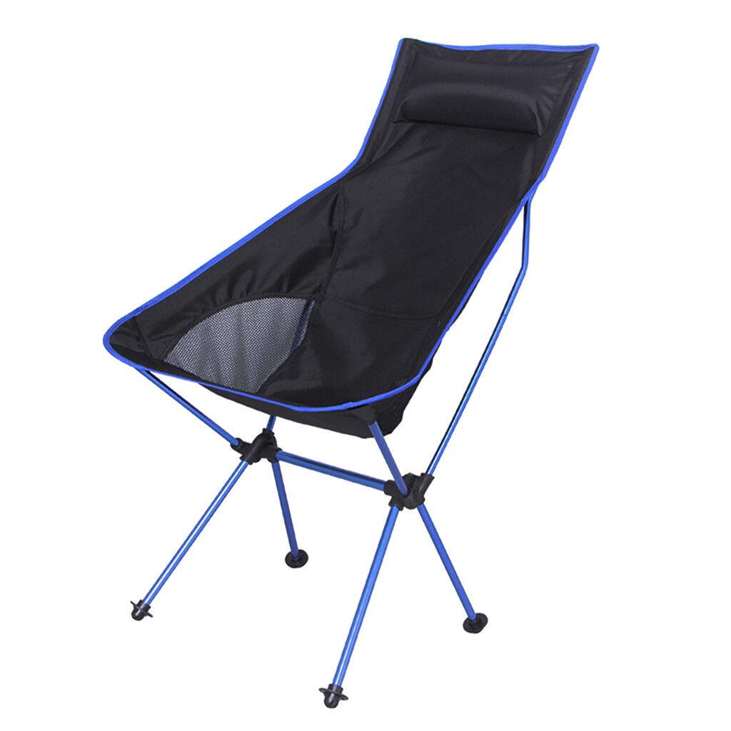 Portable Folding Outdoor Camping Picnic Chair Royal bluee Aluminum Alloy Pole