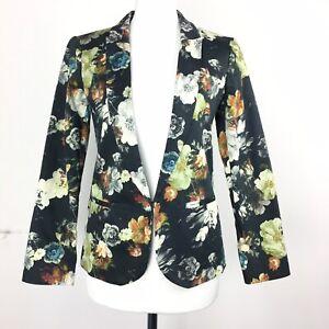 Topshop-BNWT-New-Size-6UK-Dark-Floral-Blazer-Jacket-Funky-Office-Wear