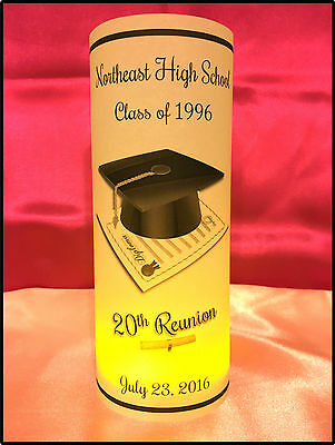 10 Personalized Class Reunion Luminaries Table Centerpieces