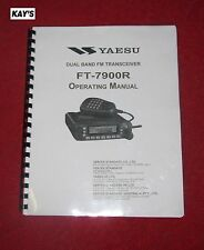 Highest Quality ~ Yaesu FT-7900R Manual ON 32 LB PAPER (BETTER THEN 28LB PAPER)