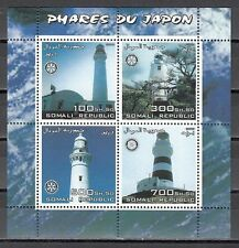// Somali Rep., 2003 Cinderella issue. Japan`s Lighthouses sheet of 4.