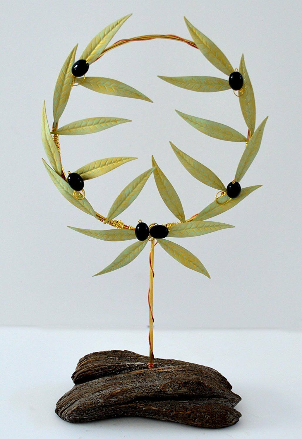 Olive bronze Wreath with light Weiß effect - Olympic Games Prize - Olympia