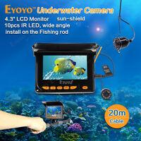 4.3 Monitor 20m Hd 1000tvl Underwater Video Fishing Camera Ice/sea Fish Finder