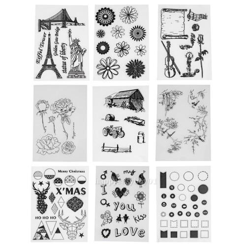 Transparent Clear Stamp DIY Silicone Seals Scrapbooking Album Sheet Card Craft
