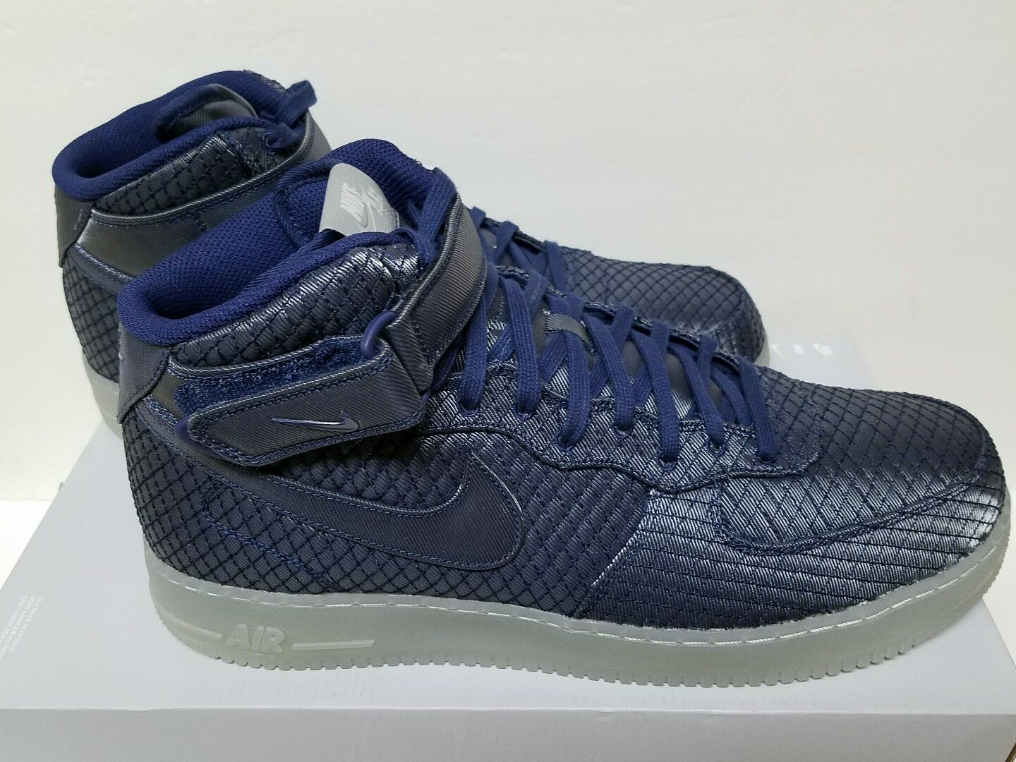 NIKE AIR FORCE 1 07 MID LV8 Size BLUE 7 & 10 BINARY BLUE Size METALLIC SILVER 804609 401 1bc203