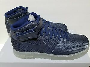 new arrival aaf17 6db41 Details about NIKE AIR FORCE 1 07 MID LV8 Size 10 BINARY BLUE METALLIC  SILVER 804609 401