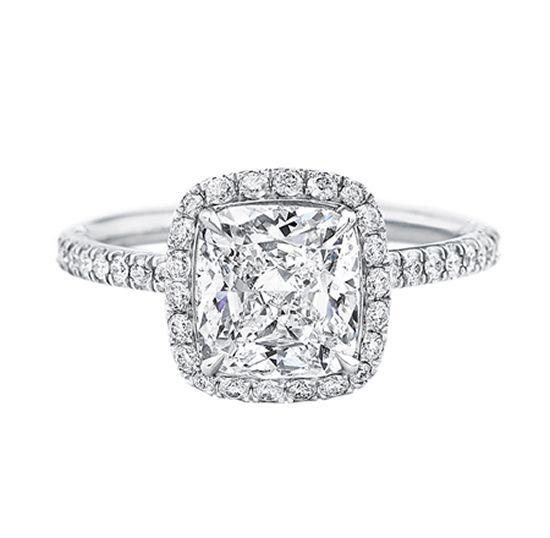 Halo 2.5 Ct Cushion Cut D VSS1 Women Engagement Wedding Ring 14K White gold Ring