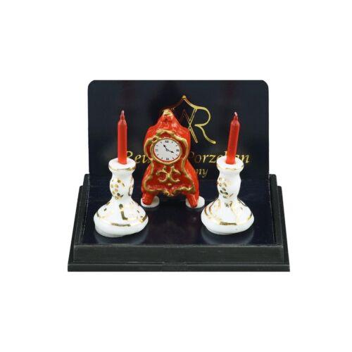 1.603//5 Reutter Porzellan Camino Decorazione Rosso bambole Tube 1:12 art
