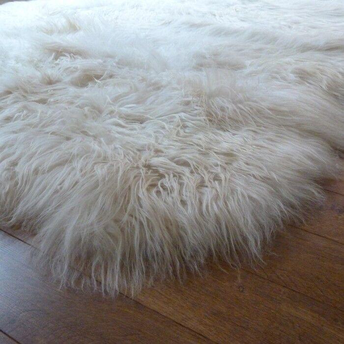 Natural soft & Lungo Islandese Pelle Di Pecora Tappeto-Extra Lungo Lana-gamma di dimensioni