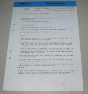 Nachdenklich Einbauanleitung Karosserieanbausatz Volvo 440 Karosserie Anbausatz Stand 05/1989 In Den Spezifikationen VervollstäNdigen Anleitungen & Handbücher Service & Reparaturanleitungen