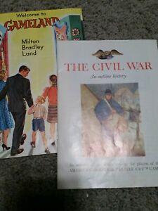 American-Heritage-Battle-Cry-Civil-War-Board-Game-Milton-Bradley-vintage-parts