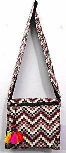 Cotton Canvas Boho Sling Bag HIPPIE Handbag Shoulder Festival Gypsy Beach