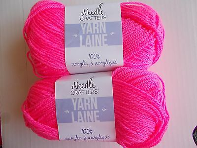 Bordeaux lot of 2 115 yds ea Needle Crafters variegated acrylic yarn