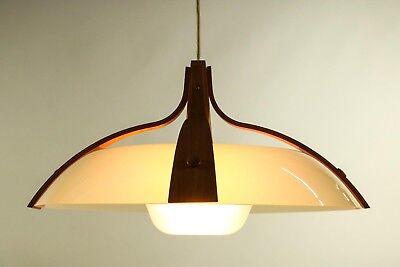 Temde Zugpendel Leuchte Teakholz Kunststoff Hänge Lampe Vintage 50er 60er Jahre Einfach Zu Schmieren