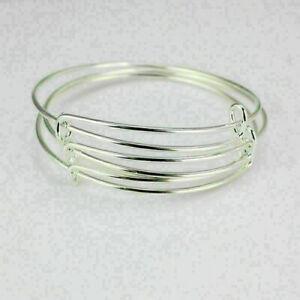 10Pcs-erweiterbar-Silber-Armreif-Armband-Draht-einstellbar-umwickelt-Bulk-N-B8N5