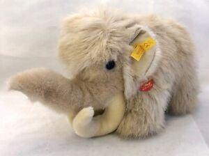 Steiff Vintage Trampy 0595/35 mammoth All Tags Rare Elephant Ancestor