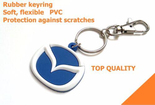 NEW Mazda keyring 3 6 7 keychain mx5 rx-7 key holder rubber car logo light pvc