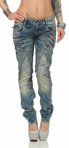 Cipo /& Baxx Women/'s Jeans WD175 Regular Fit With Contrasting Seems
