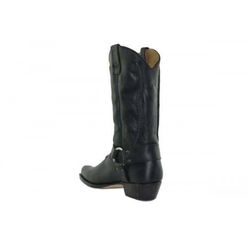 Stivali cerata mano pelle Classic realizzati cowboy Loblan Unisex Western nera da 2476 a in CaYwxxBq