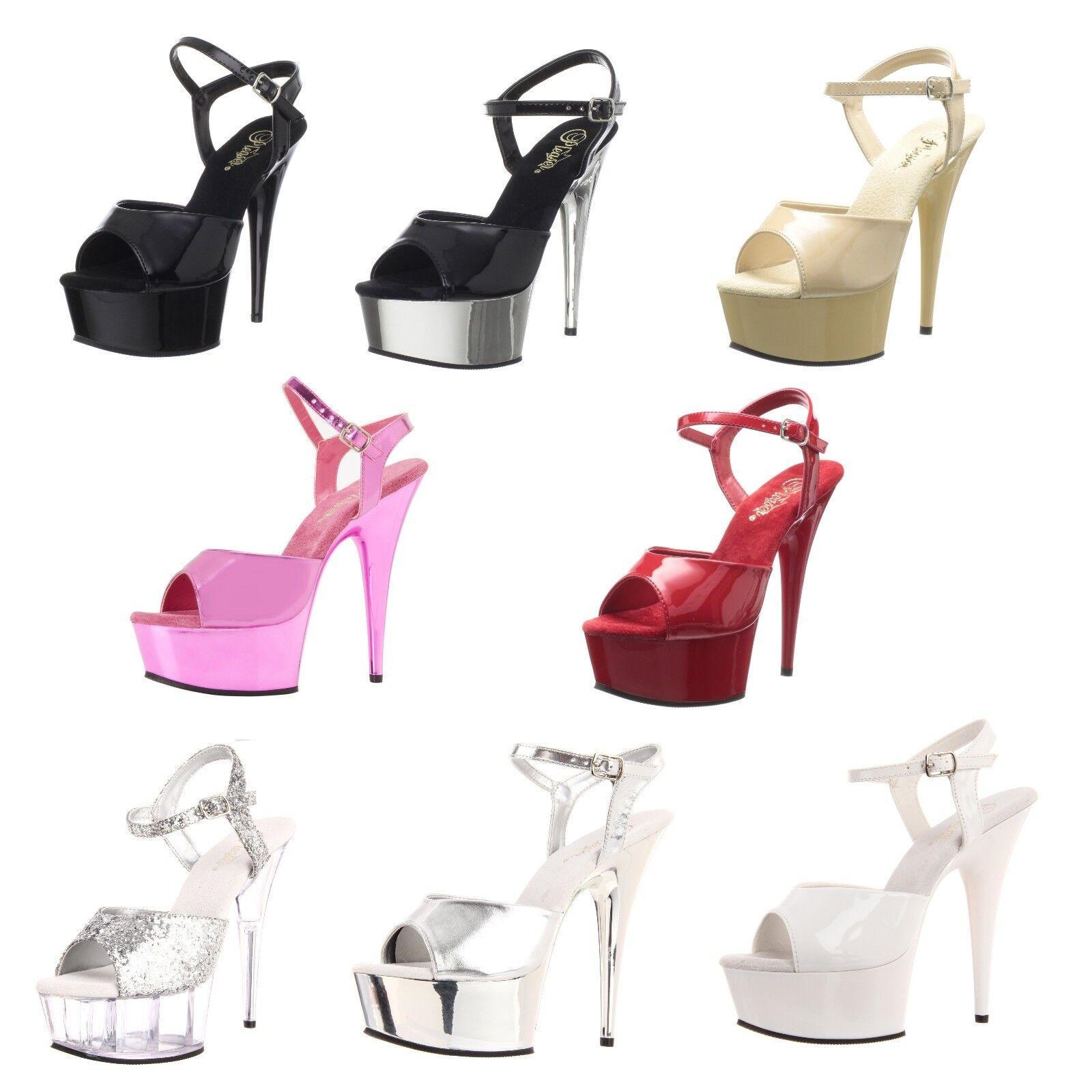 PLEASER Delight-609 Sexy Ankle Strap Platform Sandale Größe 5-14