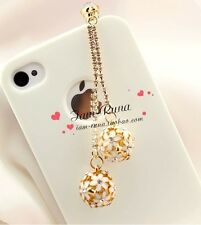 Bling Colorful Ball Anti Dust Plug for iPhone&3.5mm Earphone Jack Cell Phone A