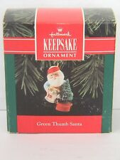 GREEN THUMB SANTA - Watering Christmas Tree - HALLMARK KEEPSAKE ORNAMENT 1992