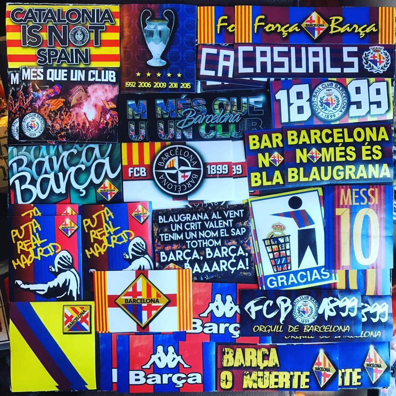 100 x Pegatinas Pegatinas Pegatinas Barcelona inspirado por Ultras la bufanda, pin y póster FC FCB  Precio al por mayor y calidad confiable.