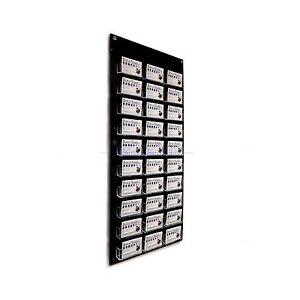 30 bay business card holder wall mount display shop dispenser black image is loading 30 bay business card holder wall mount display reheart Gallery