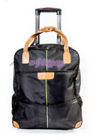 """Black 20""""rolling duffle bag carry on luggage travel bag in-line skate wheels"""