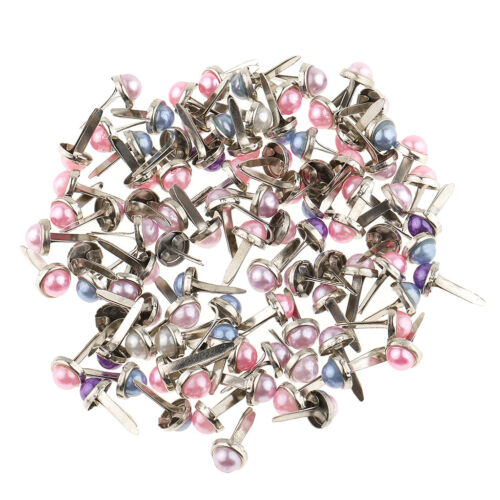 200x Pearl Head Mini Metal Brads Paper Fastener for Scrapbooking Cardmaking
