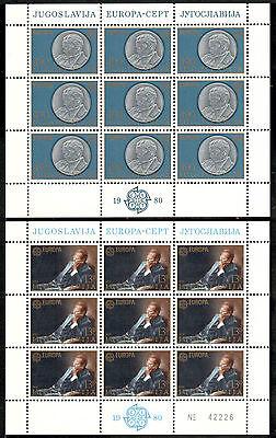 Angemessen Jugoslawien Kleinbogen Michelnummer 1828-1829 Postfrisch klbg 1490 Europa