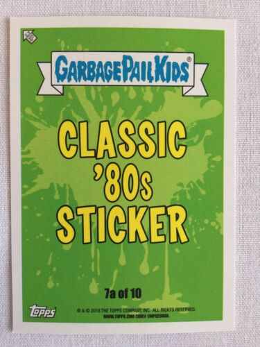 Garbage Pail Kids Topps 2018 Sticker We Hate The '80s Classic Reuben Cube 7a