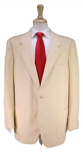 BRIONI-Vintage-Beige-Knit-2-Btn-Patch-Pocket-Luxury-Suit-42R