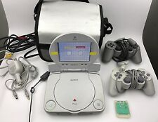 Sony PSOne PS1 Console System SCPH-101 LCD Screen SCPH-131 Ultimate Bundle PSX