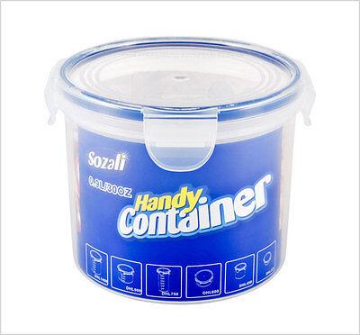 Rund Klar Plastik Kiste Deckel Einweg Mehrzweck Verpackung Behälter W