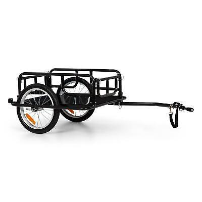 """Remorque pour vélo chariot à main 65 L 40 kg max pneus 16/"""" x 1,75/"""" EasyFold Noir"""